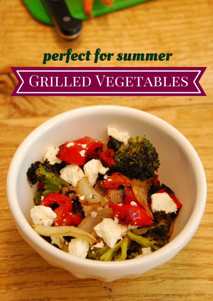 Grilled vegetables with EVOO, balsamic and feta