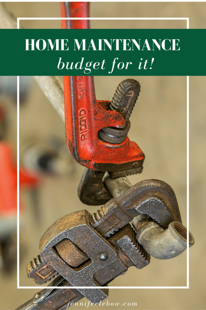 Budgeting for home maintenance