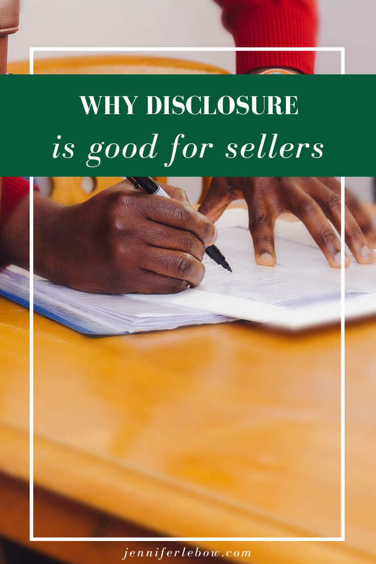 Sellers disclosure protects sellers, too